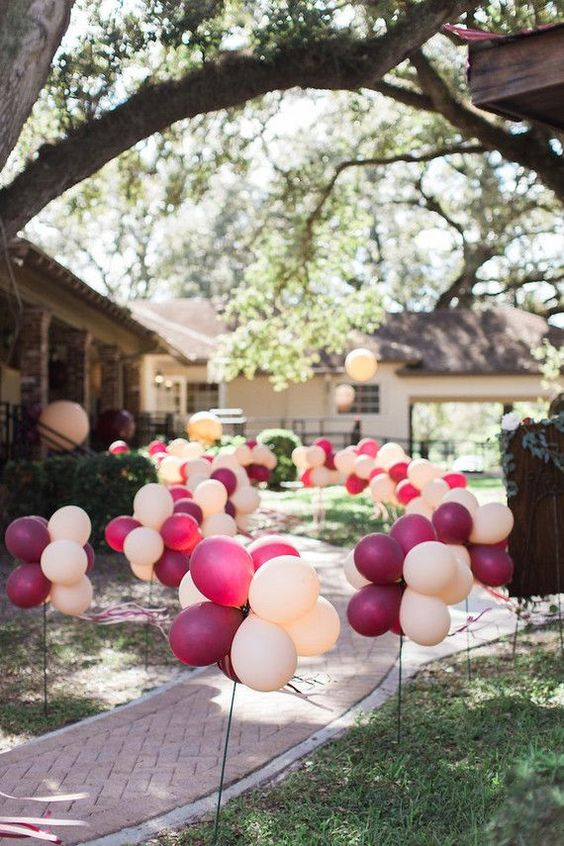 Balloon Path event decor