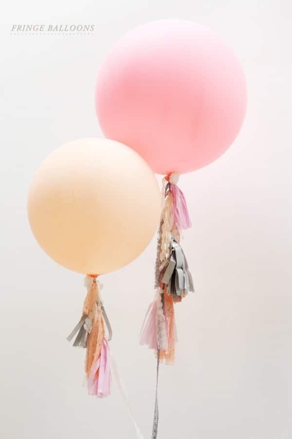 fringe balloons event decor