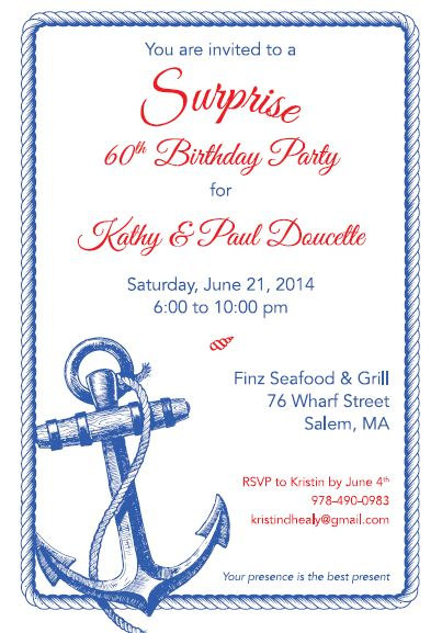 Nautical Surprise 60th Birthday Party Swank Events